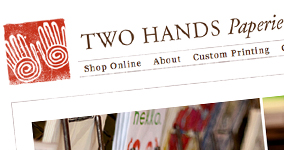 Online Store for Two Hands Paperie