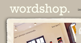 Website for wordshop.