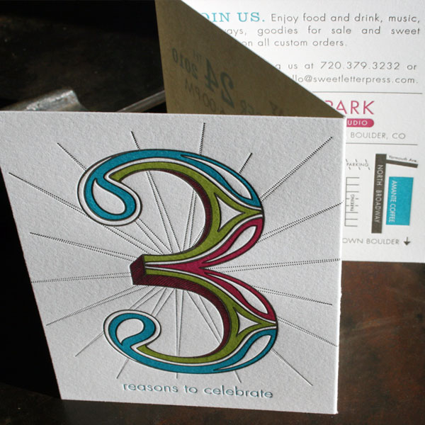3 Reasons Letterpress Invitation
